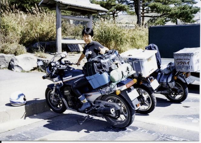 アヘッド カワサキ GPz900R 記念写真