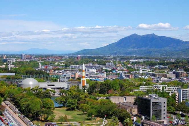 筑波山と都市