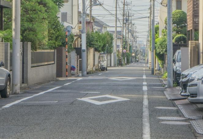 住宅街 道路 ひし形