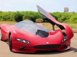 費用たったの60万円でスーパーカーを自作!なんとEVで時速30キロも!?【動画】