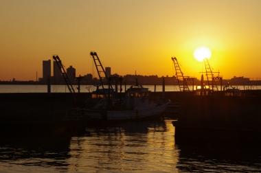 漁港 夕暮れ