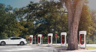 Tesla Supercharging Station