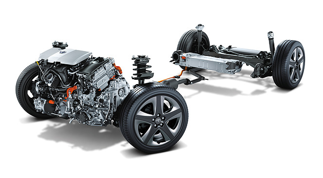 トヨタ プリウス 1.8L 2ZR-FXE エンジン+モーター