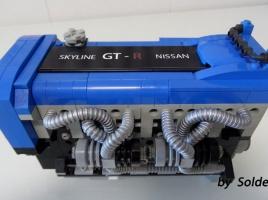 【動画】日産の名エンジン、RB26DETTをレゴで完全再現!もちろんしっかり動きます!