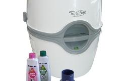カーメイト 電動水洗式ポータブルトイレ ポルタポッティ ホワイト PPE002(1台)【ポルタポッティ】