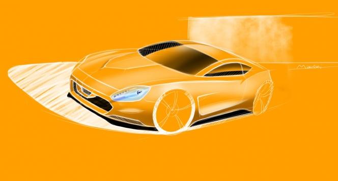 日産 GT-R レンタリングスケッチ
