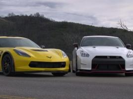 【動画あり】GT-R ニスモとコルベットZ06ではどちらが速いのか?