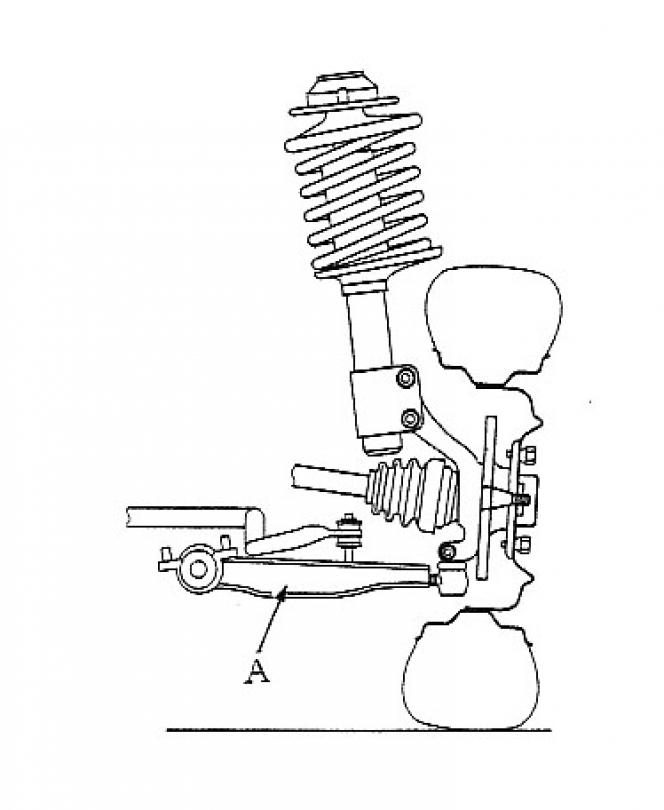ストラット式サスペンション