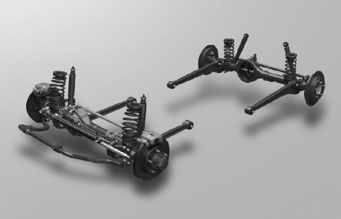 3リンクリジッドアクスル式サスペンション
