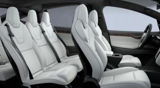 Interior of Tesla Model X