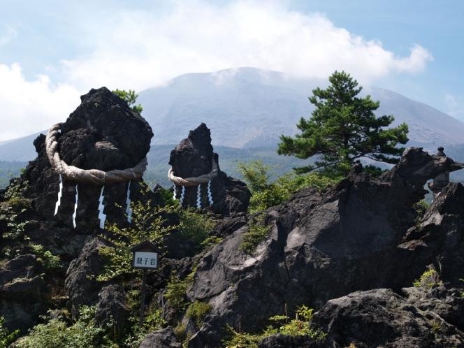 鬼押出し園の溶岩