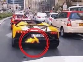 ふかしすぎに注意!ランボルギーニが大炎上?!【動画】