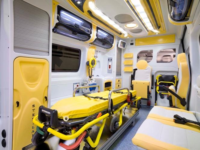 イタリアの救急車の内装