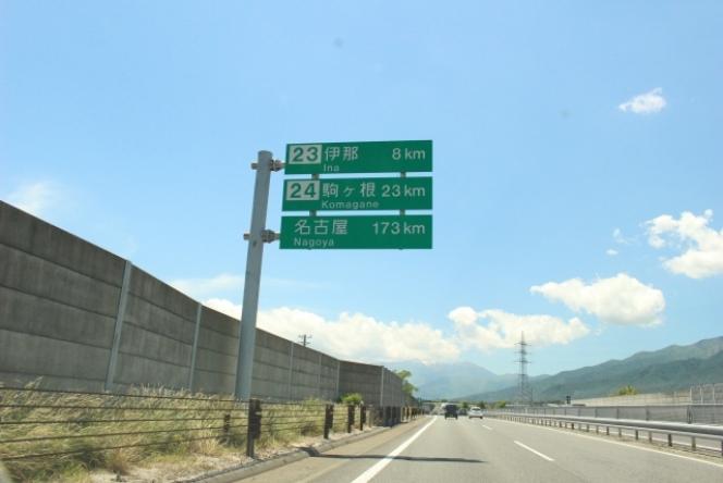 高速道路 道路標識
