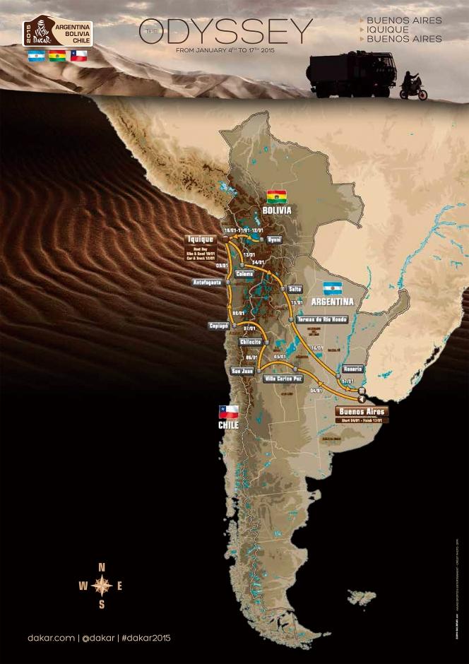 アヘッド ダカールラリー2015 地図