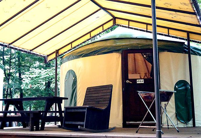 ランタン キャンプの宿泊方法