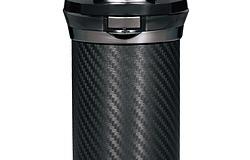 カーメイト 灰皿 愛煙缶プレミアム ドリンクホルダー型 カーボン調ブラック LED付き DZ186