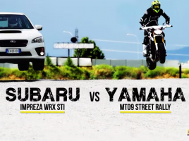 スバル WRX STi VS ヤマハ MT-09!四輪と二輪、どちらが速いのか?