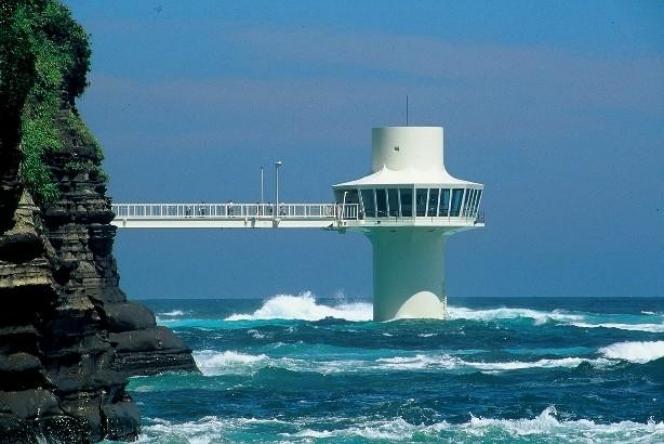 海の中心で海を見つめる。勝浦海中公園センター