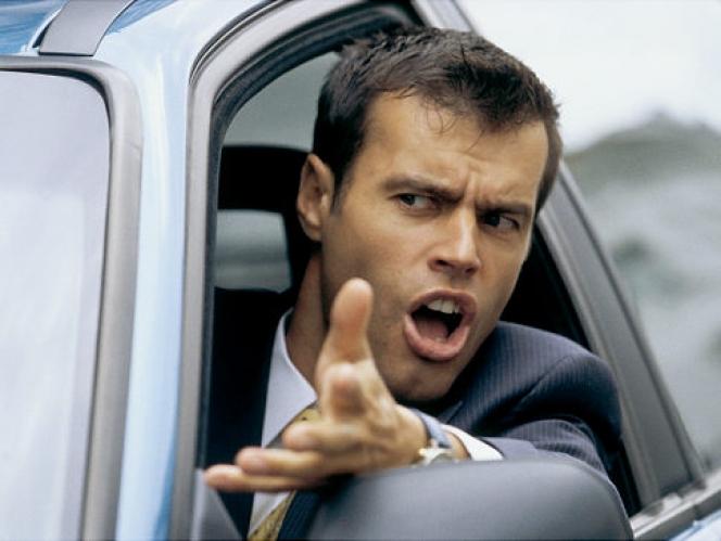 怒っているドライバー