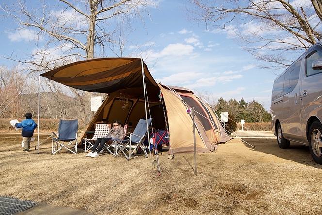 ランタン 春先キャンプ