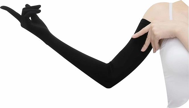 おたふく手袋 【UVカット率99.7% UPF50+】手腕ひんやり接触冷感繊維使用 UV-2711