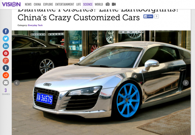 chinese custom car