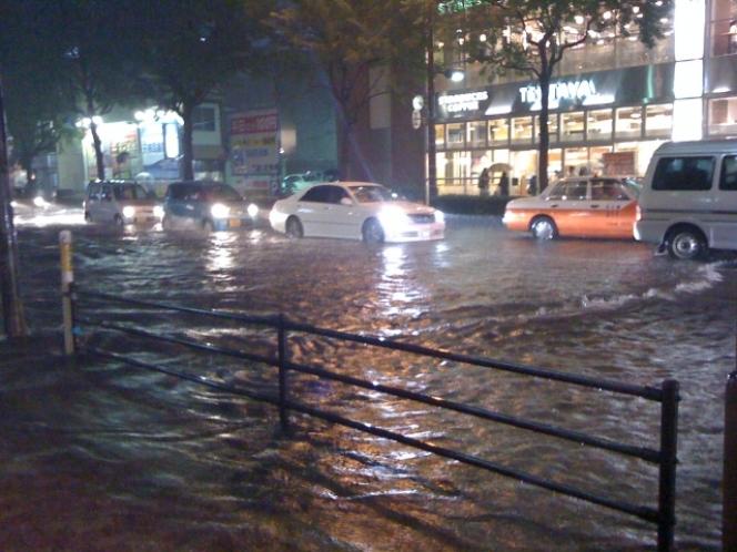 冠水 水害 台風