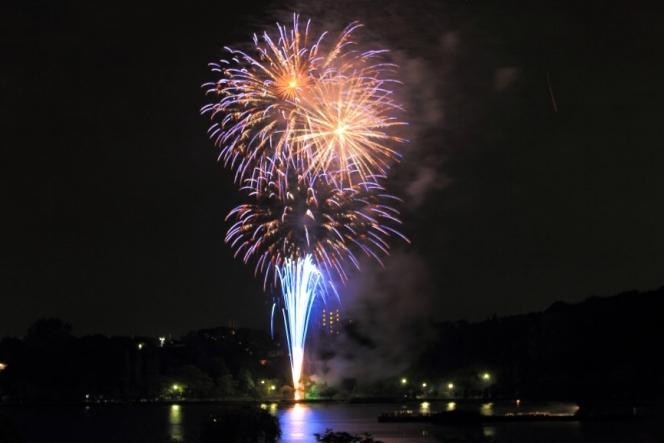 千波湖の花火大会