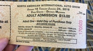 NAIAS チケット
