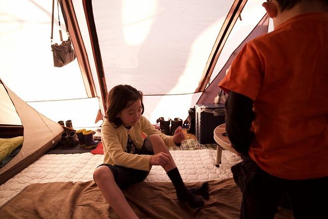 ランタン 秋冬キャンプ