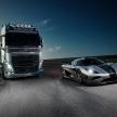 【動画】世界最速スーパーカー・アゲーラone VS ボルボのトラック!?