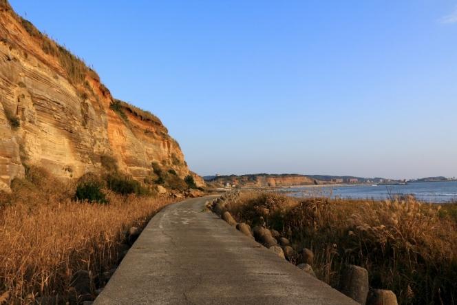 圧倒的な断崖絶壁。屏風ケ浦