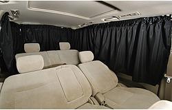 タイトルボンフォーム 車用 シャットカーテン ブラック ミニバンリヤ5枚セット 普通車用 7901-04BK