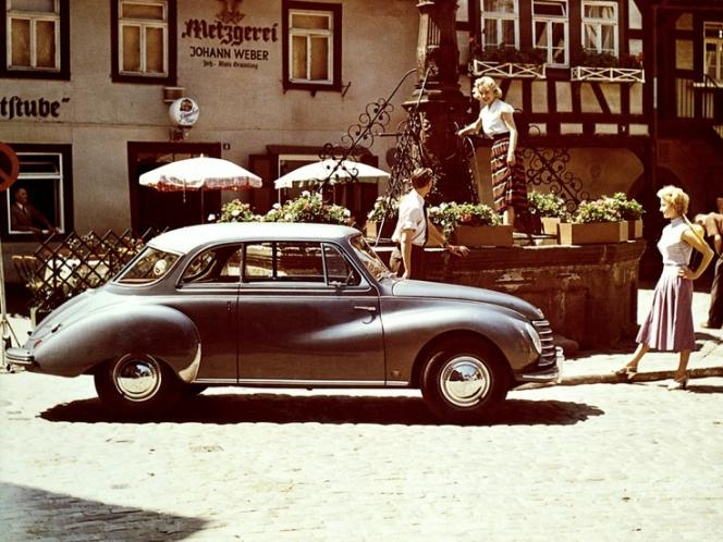 1950年代のアウトウニオンの車