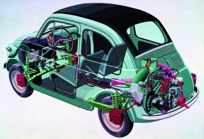 FIAT 500 内部