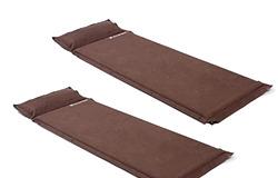Hilander(ハイランダー) スエードインフレーターマット(枕付きタイプ) 5.0cm【お得な2点セット】UK-2
