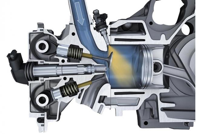 直噴エンジン 断面図