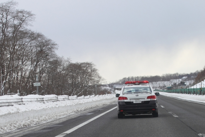 高速道路パトカー