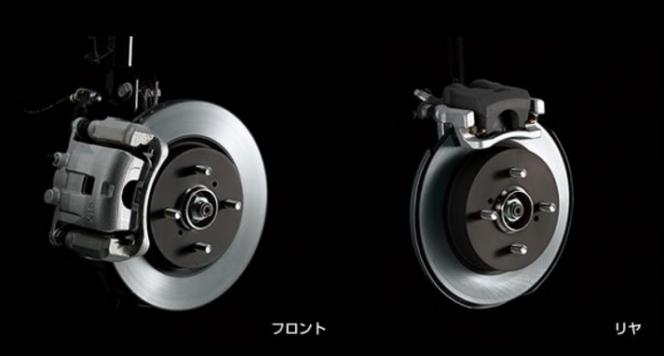 4輪ディスクブレーキ
