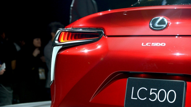 lc500 rear end