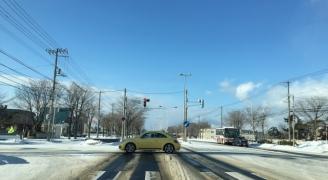 冬の交差点