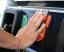 セルフスタンドにある静電気除去パッド。触れずに給油は危険です!