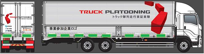 トラック 隊列実験
