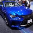 【東京モーターショー速報】鮮やかなブルーが目を引くレクサスRC-Fは、V8 5.0Lエンジンを搭載!