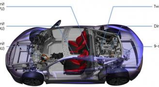 第2世代NSXボディ構造(説明付き)