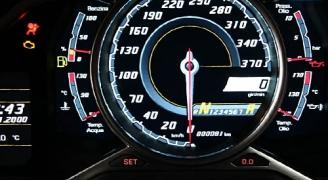 ランボルギーニアヴェンタドールのスピードメーター