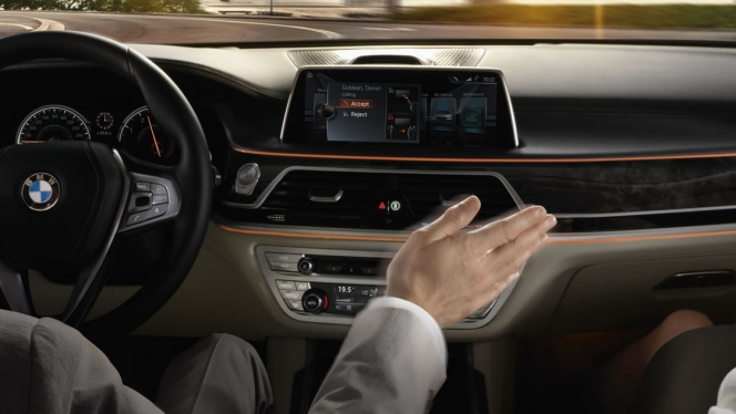 BMW  ジェスチャーコントロール