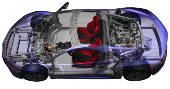 第2世代NSXボディ構造