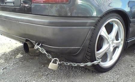 タイヤホイール盗難